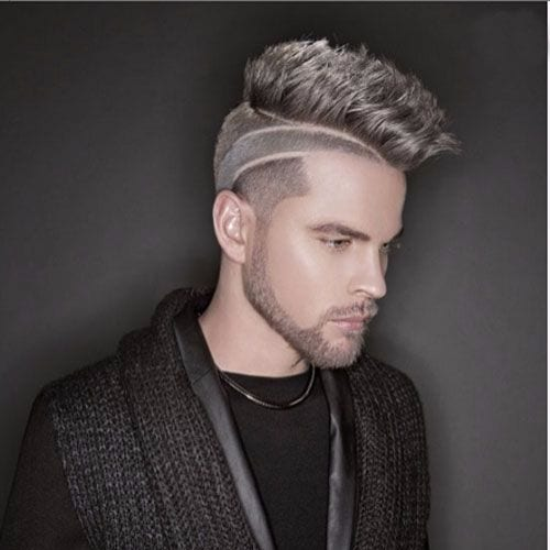 Sleek Classic Faux Hawk with Fade