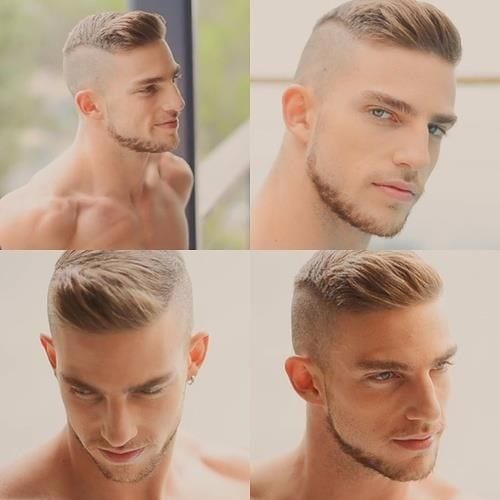 Toned Down Clean Cut Faux Hawk