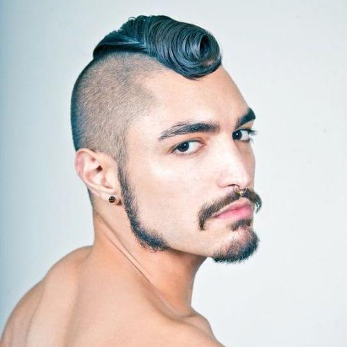 Bold Curlycue Faux Hawk