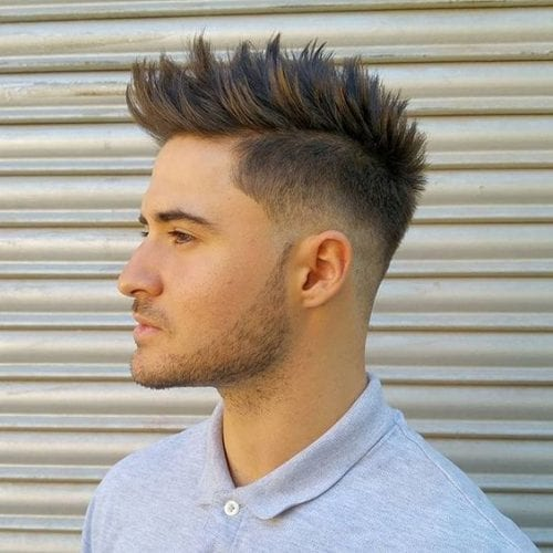 casual de punta Faux Hawk