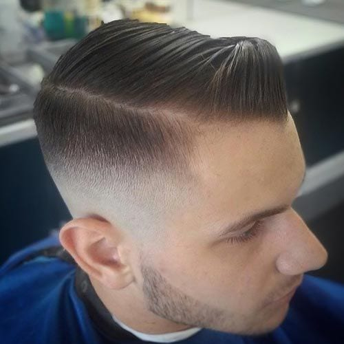 small gelled pomp hairstyles for men