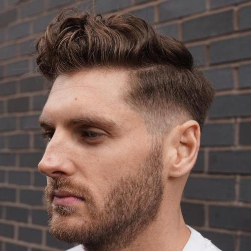 loose pomp hairstyles for men
