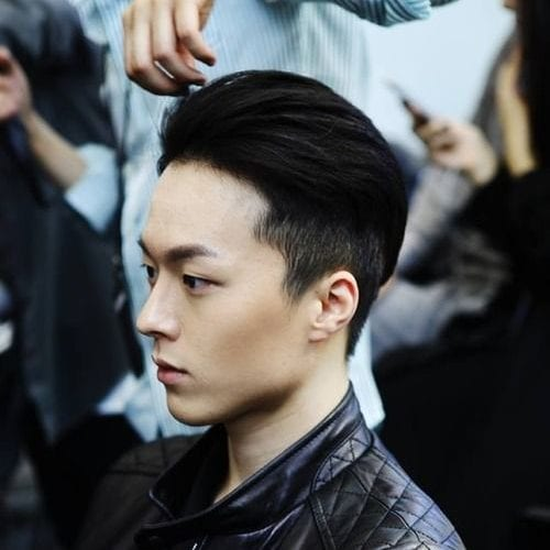 Clean and neatly manicured hair style for asian men