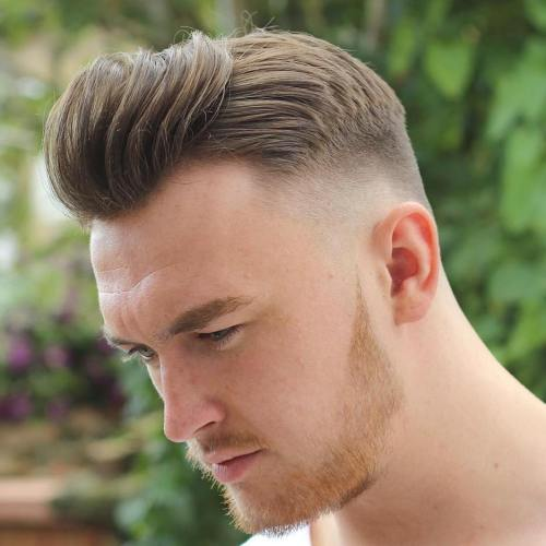 tall front pomp hairstyles for men