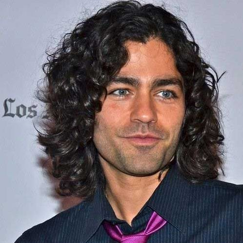 curly medium length hairstyles for men