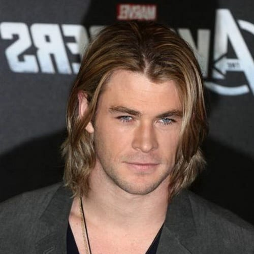 blond waves in long hairstyles for men