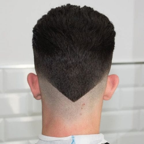 angled fade hairstyles for men