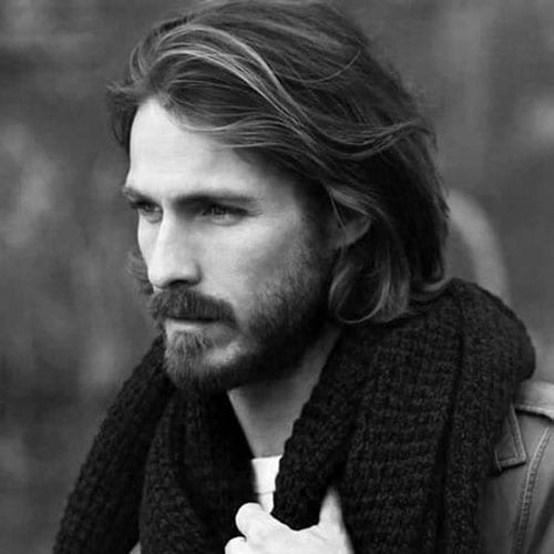 casual wavy long hairstyles for men