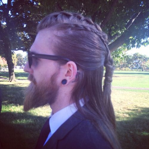 long braids in long hairstyles for men