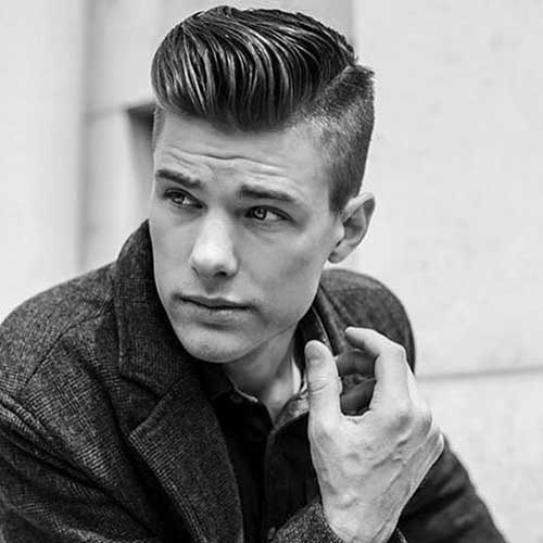 parted pomp hairstyles for men