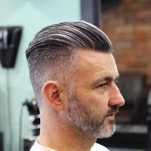 gelled pomp hairstyles for men