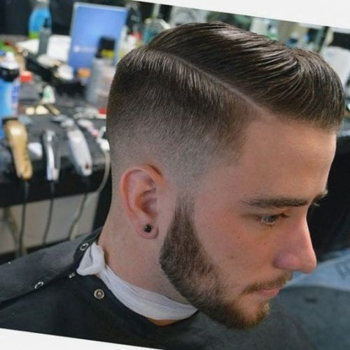 chunky taper fade hairstyles for men