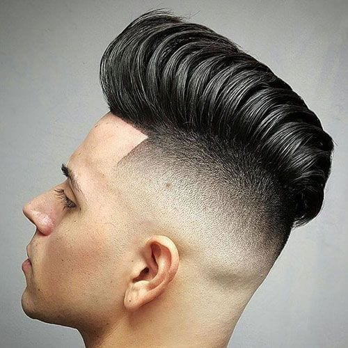 large defined pomp hairstyles for men