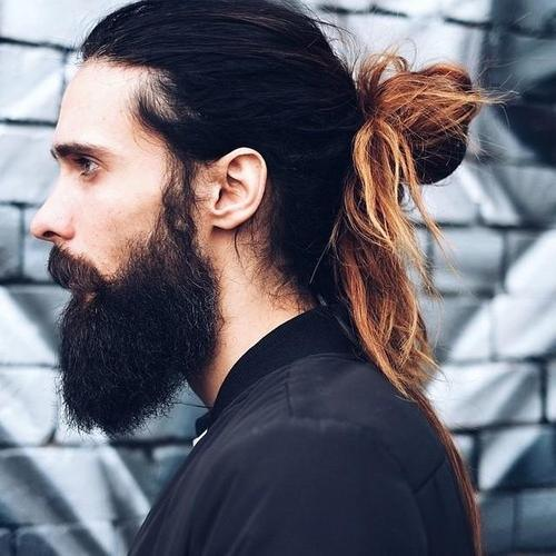 bleached tips long hairstyles for men
