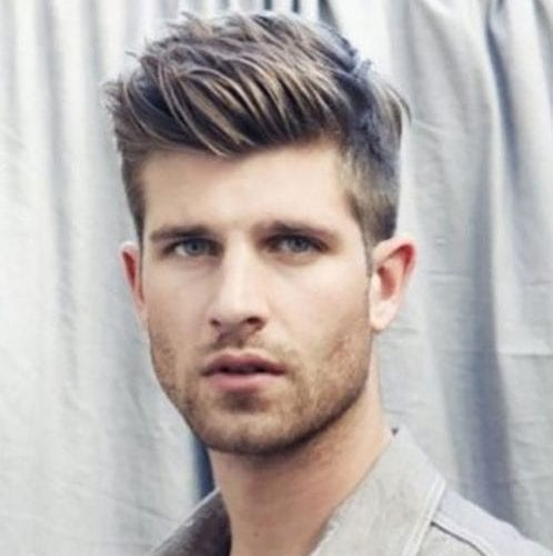 Neat short and straight hair - quiff hairstyle for men