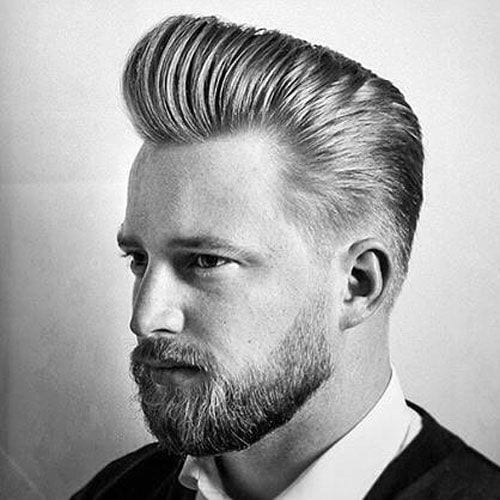 receding pomp hairstyles for men