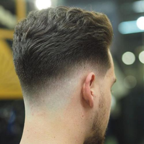 low drop fade hairstyle for men