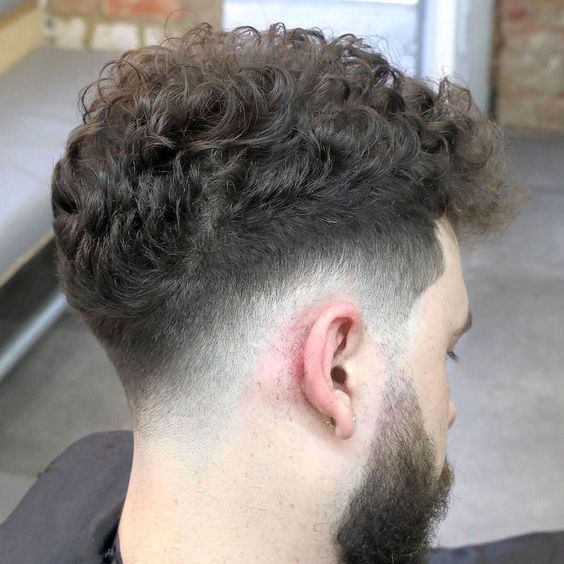 curly fade hairstyles for men