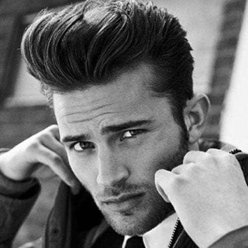 detailed pomp hairstyles for men