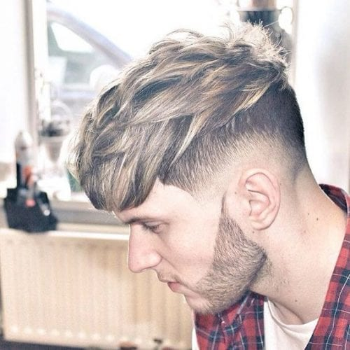 shaped fade hairstyles for men