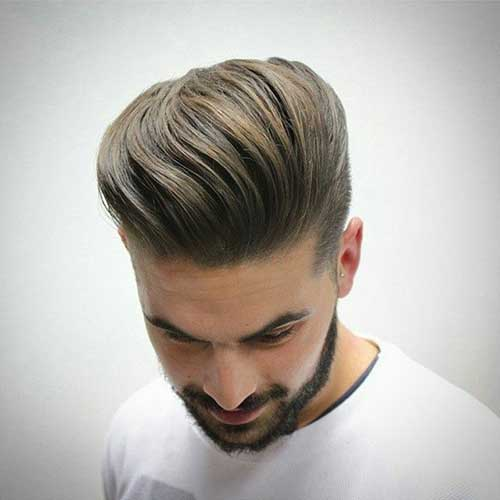 dirty blond pomp hairstyles for men