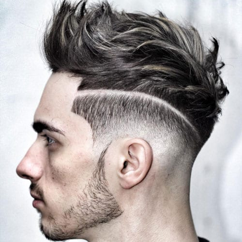 pomp hairstyles for men with fade