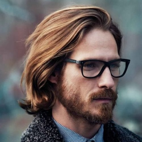 casual highlighted medium length hairstyles for men