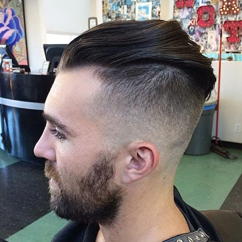 edgy pomp hairstyles for men
