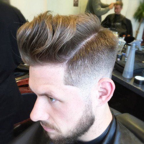 low key pomp hairstyles for men