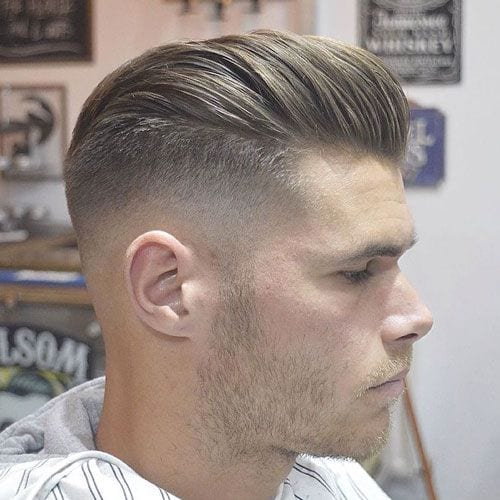 classy modernized pomp hairstyles for men