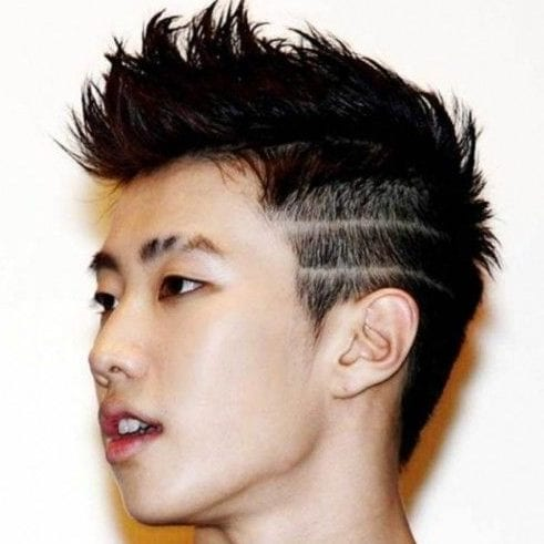 unique fade hairstyles for men