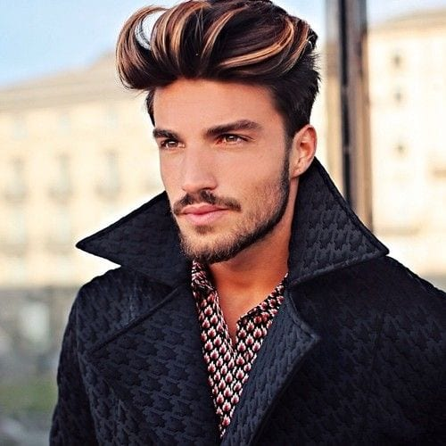 breezy pomp hairstyles for men
