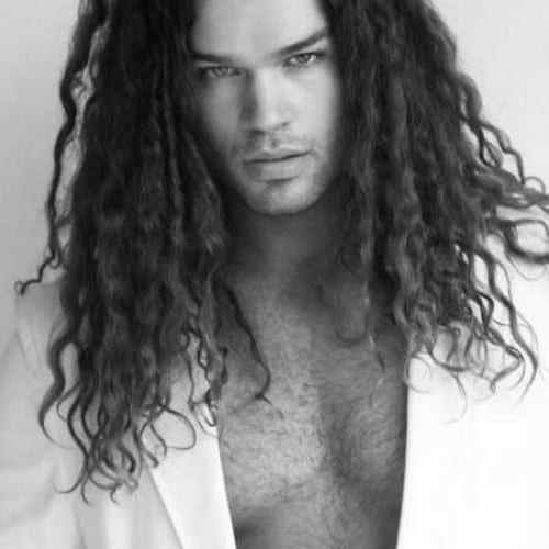 wavy, piecey long hairstyles for men