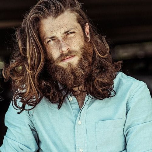 red curly long hairstyles for men
