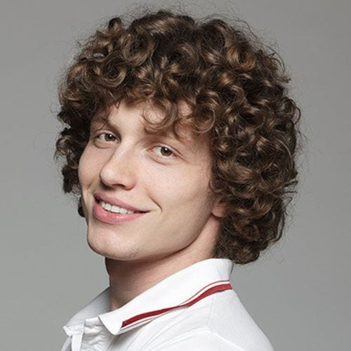 big, bold curly medium length hairstyles for men