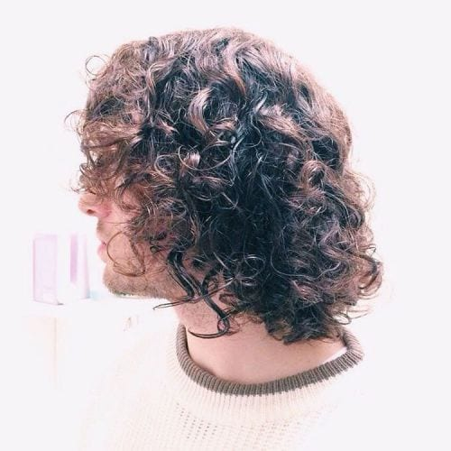 messy ringlets long hairstyles for men