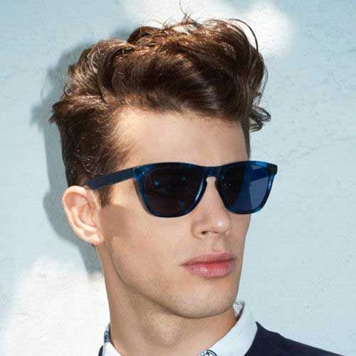 curly quiff medium length hairstyles for men