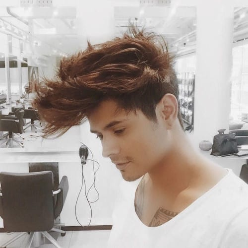 long piecey pomp hairstyles for men