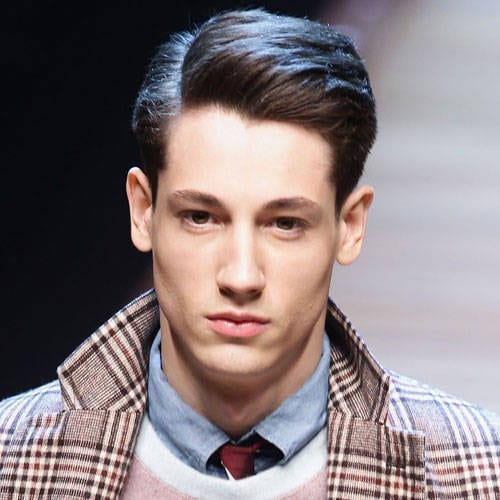 neat side parted medium length hairstyles for men