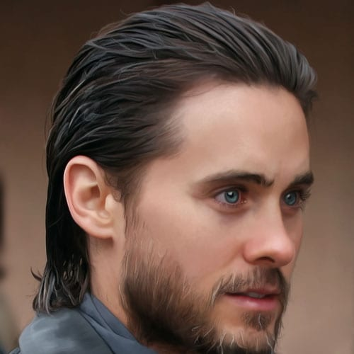 slicked back medium length hairstyles for men