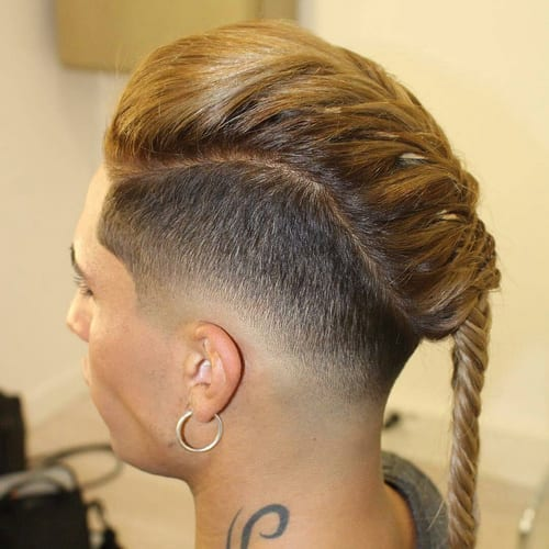 blond braid long hairstyles for men
