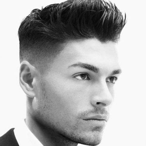 small pomp fade hairstyles for men