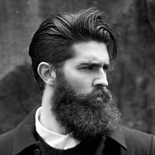pushed back medium length hairstyles for men