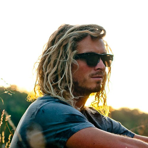 beach waves in medium length hairstyles for men