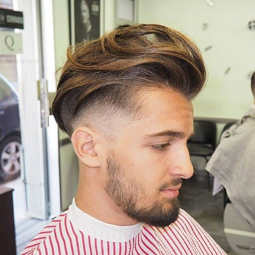 wavy pomp hairstyles for men