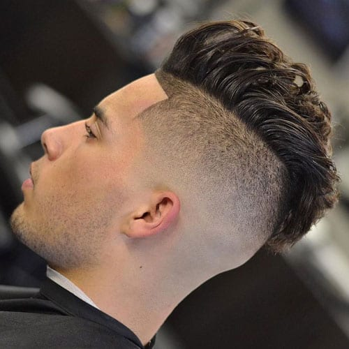 classic pomp and fade hairstyles for men
