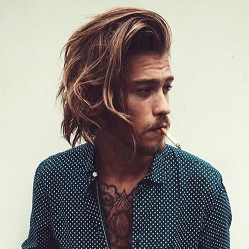 wavy medium length hairstyles for men