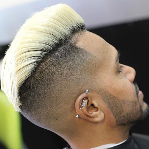 blond pomp hairstyles for men