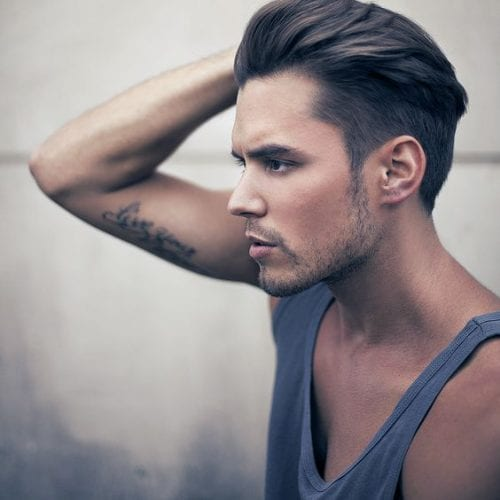 Slicked Back Short Sides Long Top Hairstyles. Professional Slicked Back  Style