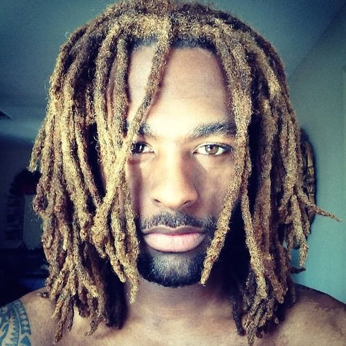 dyed dreads in long hairstyles for men
